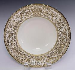 Royal Worcester Embassy Gold Set of Two 8 1/4 Wide Soup Bowls Bowl