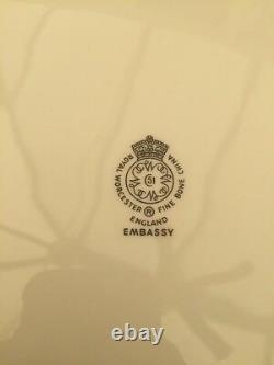 Royal Worcester Embassy White Gold Plate Platter Set