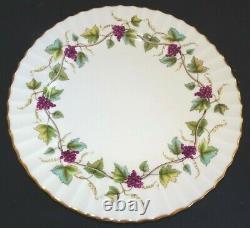 Royal Worcester England Baccanal Set of 10 Dinner Plates Grapevine 10 5/8