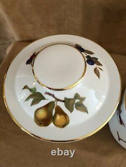 Royal Worcester Evesham Gold Canister set 3 china porcelain vintage fruit dishes