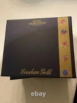 Royal Worcester Evesham Gold Set Of Pastry Forks Fruits and Spoons Porcelain