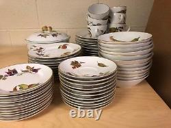 Royal Worcester Evesham porcelain gold mega set