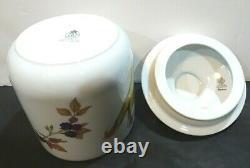 Royal Worcester Fine Porcelain EVESHAM GOLD Canisters w Lid SET of 3 -9 7.5 6