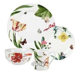 Royal Worcester Floral Haven 32 piece Dinnerware Set Service for 8 NEW