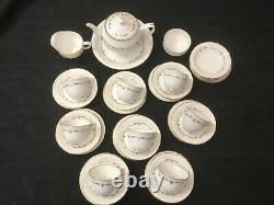 Royal Worcester Gold Chantilly Tea Set For Eight People