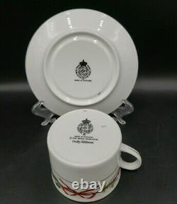 Royal Worcester HOLLY RIBBONS (ENGLAND) 8 Cup & Saucer Sets MINT 2ND