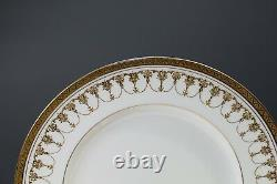 Royal Worcester Imperial Gold Luncheon Plates Set of 6 Brunch Lunch