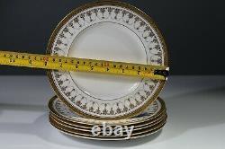 Royal Worcester Imperial Gold White Salad Bread Plates set of 6 Gold Encrust