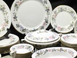 Royal Worcester June Garland Dinner Service Coffee Cups Large Set Plates Bowl 63