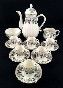 Royal Worcester Lavinia Coffee Set