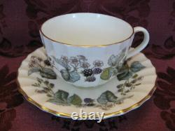 Royal Worcester Lavinia White China Cup & Saucer-Set of Eleven (11)+ -Excellent