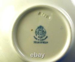 Royal Worcester Mansfield English Fine Bone China 19 Pc. Demitasse Set Estate