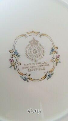 Royal Worcester Mayfield Bone China Dinner Tea Set Plates Bowls Cups