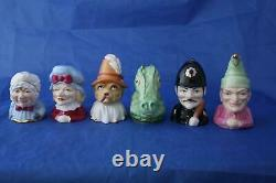 Royal Worcester Punch & Judy Connoisseur L/e Candle Snuffers All No. 1 Full Set