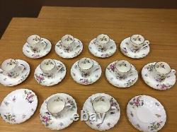 Royal Worcester ROANOKE Demitasse Cup & Saucers (10 Sets) Excellent