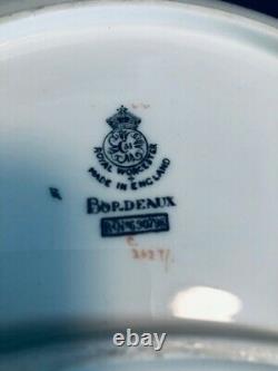 Royal Worcester Rare Bordeaux Pattern 1926 Set Of 10 Demi Lune Plates 9 3/4 In