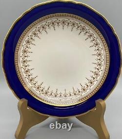 Royal Worcester Regency Cobalt Blue Berry Bowls Set of 7