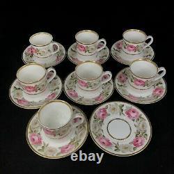 Royal Worcester Royal Garden 20 Piece Coffee Set 7x Demitasse, Pot, Jugs etc