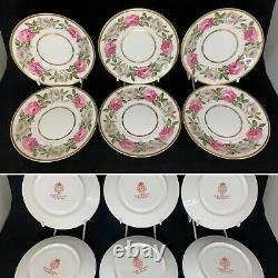 Royal Worcester Royal Garden 24 Piece Tea Set 6 Trio, Cake Plate, Knives etc