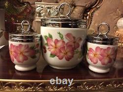 Royal Worcester SET Of 3 1 MAXIME+2 Small Egg Coddlers Pershaw&Gooseberry VGC