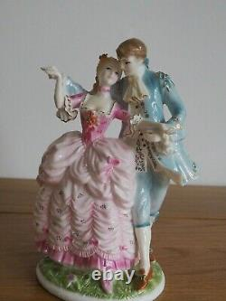 Royal Worcester Set Of 4 Age Of Courtship Figurine