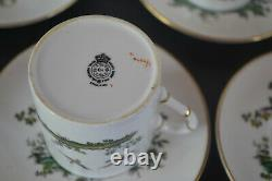 Royal Worcester Set Of 8 Demitasse Cups With Saucers Pheasants