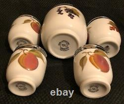 Royal Worcester Set of 5 Egg Coddlers, Maxime, 2 x K Size, 2 x Standard, Evesham