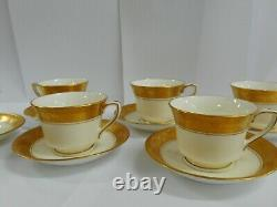 Royal Worcester Six Person Coffee Set With Coffee Pot Sugar Bowl & Creamer