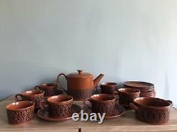 Royal Worcester Terracotta Scottie Wilson Design 6 Cup Tea Set With Extras