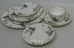 Royal Worcester Valencia Dinner Plates Set of 12 10½ Orange Blossoms Gold Rim