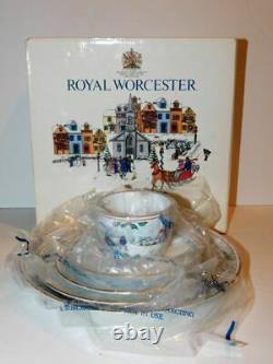 Royal Worcester Village Christmas Five Piece Setting-NOS