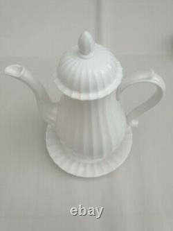 Royal Worcester Warmstry White 9.5 Coffee Pot set 4 cups Excellent