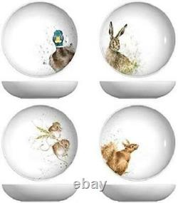 Royal Worcester Wrendale pasta bowl set of 4, squirrel, duck, hare, mouse 8.5