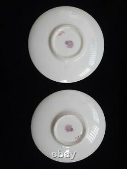 Royal Worcester fruit, hand painted Cups and Saucers Set of 6 signed