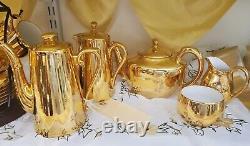 Royal Worcester gold lustre Tea/Coffee Set- Large set