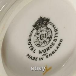 SET OF (12) VINTAGE ROYAL WORCESTER EMBASSY RUBY TEA CUPS With SAUCERS