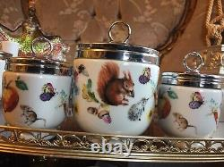 SET Of 31 MAXIME+2 King Size Royal Worcester Slippery TalePattern Egg Coddlers