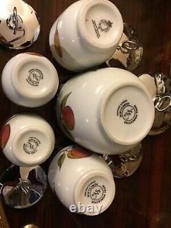 SET Of 5 Royal Worcester MAXIME, 2 KING, 2 STANDARD Egg Coddlers- Evesham VGC