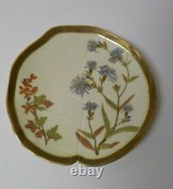Set/10 Royal Worcester 7.5 Gilded Dessert Plates for Ovington Bros, c. 1885
