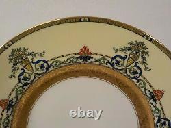 Set/12 Royal Worcester DONCASTER Gilt Embossed 10.75 Plates, c. 1901
