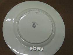 Set 12 Royal Worcester Spaulding of Chicago Silhouette 9 Luncheon Plates c. 1918