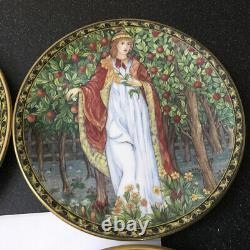 Set 4 X Royal Worcester 1996 William Morris Orchard Collection Plate Seasons Set