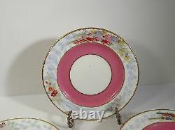 Set/8 1882 Royal Worcester England Hand Painted Dessert Plates #b679
