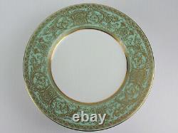 Set 9 x Dinner Plates 10 3/8 Royal Worcester Embassy Light Green