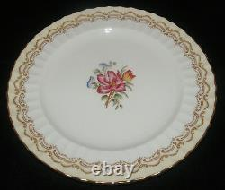 Set Of 12 Royal Worcester Fine Bone China Cromwell Pattern Dinner Plates