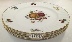 Set Of 4 Royal Worcester Fine Bone China Delecta Pattern Dinner Plates