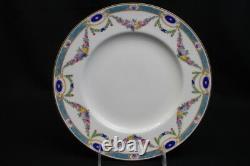 Set of 11 Royal Worcester 1916 Edwardian Era Adam Style 9 1/4 Luncheon Plates