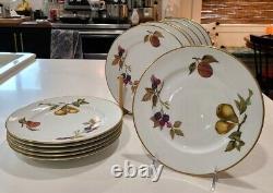 Set of 12 Royal Worcester 1986 EVESHAM VALE Salad Plates, 8 1/4 Made in England