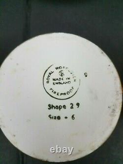 Set of 3 Royal Worcester Lustre Gold Jam Jar Lid Oven Fireproof Porcelain Plates