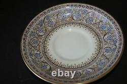 Set of 4 Royal Worcester Lady Evelyn Pattern Footed Cream Soup Bowl & Saucers #2